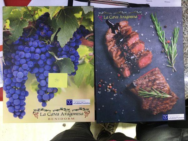 menu hosteleria